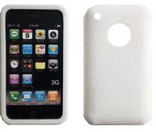 Custodia cover Tpu CASE bianca per IPHONE 3/3G SILICONE case POSTA1 OMAGGIO