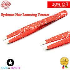 Eyebrow Tweezers Orange Hair Beauty Makeup Eyelash Extension Tweezers Art Tools