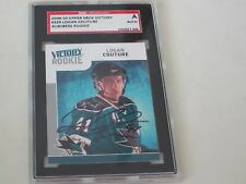 LOGAN COUTURE AUTOGRAPHED 2009-10 UPPER DECK VICTORY ROOKIE CARD-SGC SLAB-SHARKS