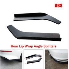 2PCS Rear Lip Wrap Angle Splitters Diffuser Car Bumper Spoiler Anti-crash Parts