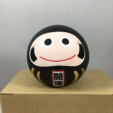 "Japanese 2.25""H Clay Black Daruma Doll for Good Fortune & NO EVIL Made in Japan"