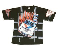 Vtg 1995 Mark Martin #6 All Over Print NASCAR Valvoline Shirt - Size Large