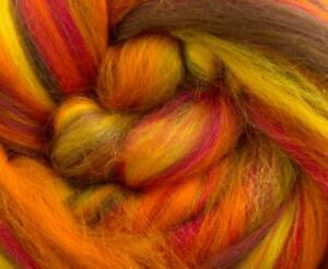 Dyed 100% Merino Tops Roving Blends. Wet/Needle Felting & Crafts. Pick Blend