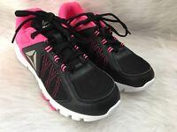 Reebok New Women's Black & Hot Pink Athletic Walking Running Shoes Size 6