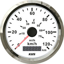 85mm KUS white normal impulse speedometer 0-120km/h CMOB-WS-120L (SV-KY08100)