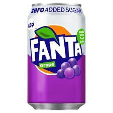 Fanta Grape Zero Sugar Made with Fruit Juice 330ml (Pack of 24) Price Marked