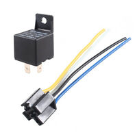 Car Truck Auto DC 12V 40A 40 AMP Socket Relay Relays 4 Pin 4P /& Socket 4 Wire R
