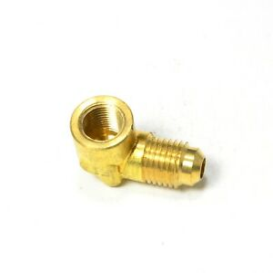 1/4 Male Flare Sae 45 to 1/8 Female Npt L Elbow Fitting Natural Gas Propane
