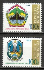 Indonesia - 1982 Coats of Arms (III) - Mi. 1042-43 MNH