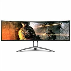 """AOC Agon AG493UCX 49"""" Curved Immersive Gaming Monitor - Black/Silver"""