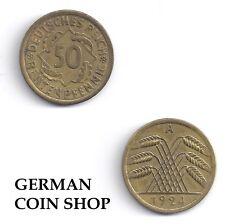 50 Rentenpfennig 1924 A D E F G J - bitte auswählen - Weimarer Republik