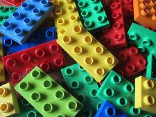 LEGO DUPLO 20 Stück Bunt Gemischte Platten 2X4 8er Noppen Platte Stein Bausteine