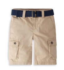 NWT LEVI'S BOYS SIZE 5 REGULAR ~ KHAKI WESTBROOK CARGO SHORTS W/ BELT MSRP $40