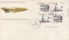 CANADA #750-751 12¢ INUIT - HUNTING LR PLATE BLOCK FIRST DAY COVER