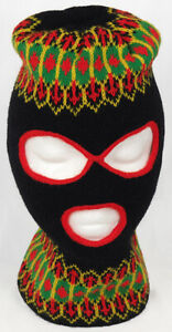 Vintage 1970s Knit FULL FACE MASK 3 HOLE ROBBER winter hat beanie ski snowmobile