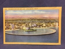 Rainbow Pier and Sky Line,  Long Beach,  Calif. postcard