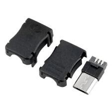 10pcs Micro USB Type B 5 Pin Male Plug Connector Port Solder Plastic Shell DIY