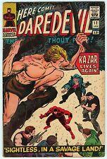 Daredevil #12 Marvel Comics 1966 Romita Kirby Ka-Zar Zabu 1st Plunderer 5.5 FN-