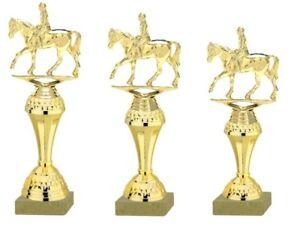 3er Serie Pokale Dressurreiter gold (630-DR) 27-24cm inkl.Gravur 23,95 EUR