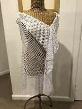 THAYER WHITE MESH DRESS SIZE MEDIUM AU 10-12 US 6-8 NEW WITH TAGS