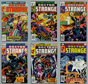 DOCTOR STRANGE LOT OF 43 BRONZE COMICS FROM #21 THROUGH #81 ANN #1 VF+ & BETTER