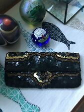 K.C. Malhan Anthropologie Sequin Purse Clutch Wallet