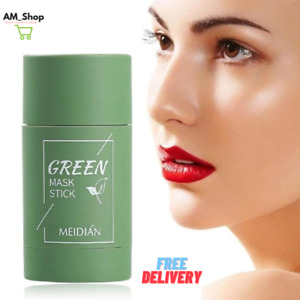 Green Tea Cleansing Facial Mask Stick For All Skin Types Anti-Acne For Women Men