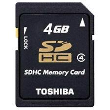 Toshiba 4GB tarjeta de memoria SD SDHC C4 video HD P-sdhc4g4 para Cámaras #