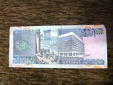 1000 Mille Livres Lebanon 1988 Banknote Free shipping