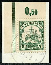Karolinen Mi 8  Ecke   Briefstück  Angaur Palau-Inseln   50,-