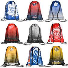 NHL Eishockey Drawstring Gym Bag Rucksack Sport Tasche Penguins Leafs Bruins neu