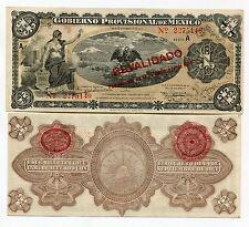 Mexico 1914 1 Peso Gobierno Provisional Banknote VF Condition