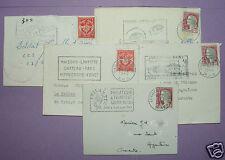 2268/ LOT DE 5 PETITES ENVELOPPES TIMBRES FRANCE ANNÉES 1962 1964 / FLAME