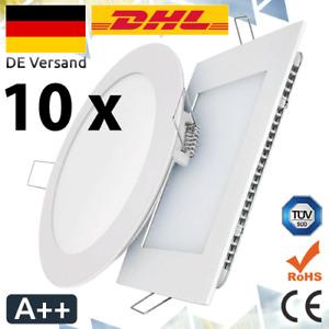 10 x LED Panel Einbaustrahler Deckenlampe Deckenleuchte Einbauleuchte Ultraslim