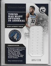 2017-18 PANINI CHRONICLES RELIC Karl-Anthony Towns Timberwolves #/199