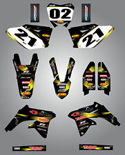Full  Custom Graphic  Kit - Barbed Style - SUZUKI RMZ 450 - 2008 / 2016 - decals