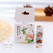 Washi Masking Tape Sticker DIY Floral Flower Spring Art Design Diary Stationery