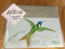 $250 NIP Ted Baker LONDON 2pc DUVET COVER Sham Set Fortune TWIN Grey Bird LUXURY