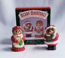 "Vintage 1996 Hallmark Merry Miniatures ""Mr. and Mrs. Claus"" Set of 2"