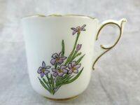 Vintage Coalport Bone China England Demitasse Cup Floral Design