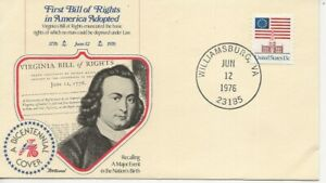 US Army Comm/FDC -  1st Bill of Rights in America Adopted - 1976 (018)Z