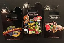 TOY STORY LAND Pins - 3 Brand New Ride Pins  - Slinky Dog, Aliens, Woodie!