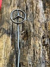 Vtg Silver Automotive WWII Mercedes Logo Stick Pin