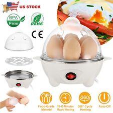 Electric Egg Cooker Steamer w/ Auto Shut Off, Hard Boiled Egg Maker for 7 Eggs