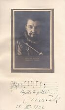 OTAKAR MARAK Opera Tenor signed presentation photo with amsqu as Raoul 1932