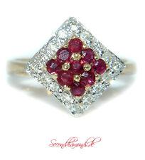 vintage Diamant Ring mit Rubinen