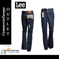 JEANS LEE DONNA PANTALONI GIRL A ZAMPA WOMAN TG 40 w27 flare regular fit zip fly