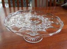 Vintage Australian Depression Clear Glass Cake Stand c1930s Hobnail Star