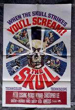 The Skull 1sh Movie Poster PETER CUSHING Robert Bloch HORROR Christopher Lee 65