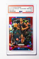2019-20 Shai Gilgeous-Alexander Panini Prizm Cracked Ice Red #122 PSA 10